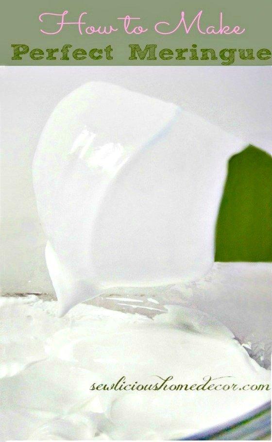 How to make perfect #meringue sewlicioushomedecor.com