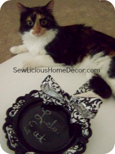 Twinkie with chalkboard plate