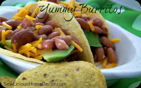 bean meat burritos