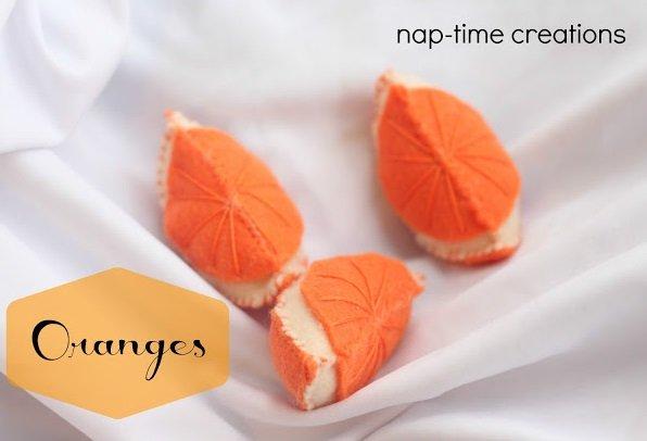felt oranges