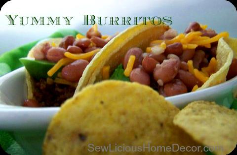 meat bean burritos