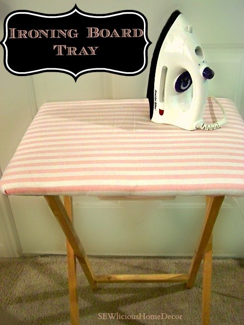 Ironing board tray