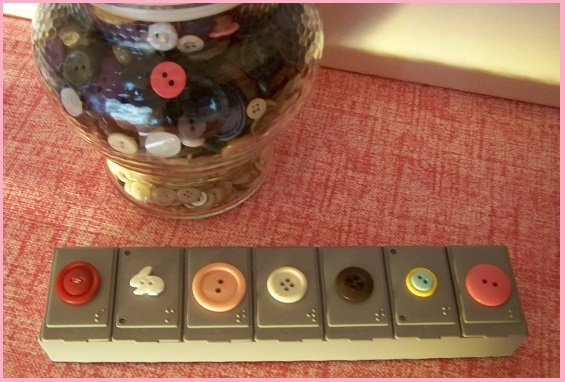 button pill box storage container