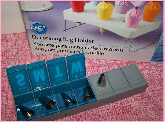 wilton decorating tips pill box storage container