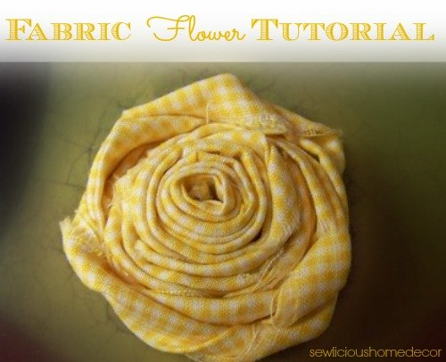 Flower fabric tutorial