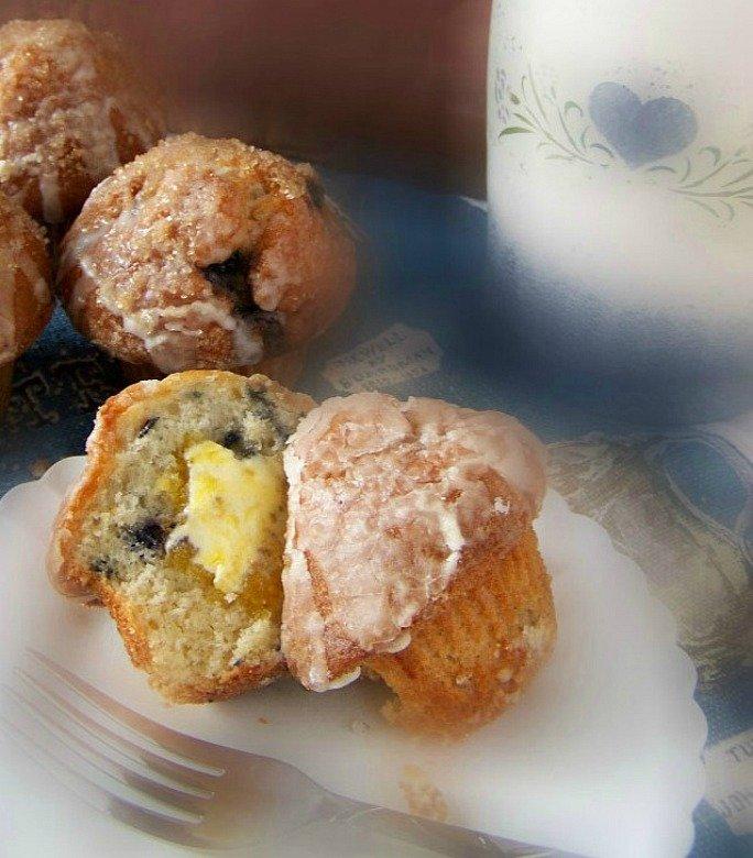 Lemon Blueberry Muffin with a glaze