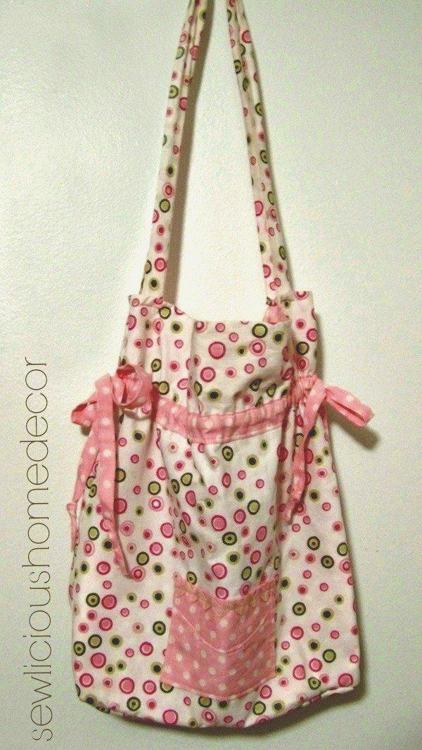 Pink Reversable Hand Bag Simplicity