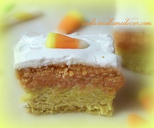 Candy Corn Eggnog sugar cookies