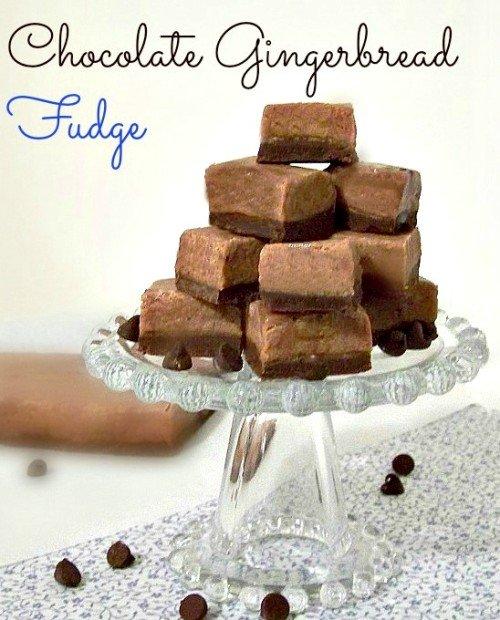 Chocolate Gingerbread Fudge