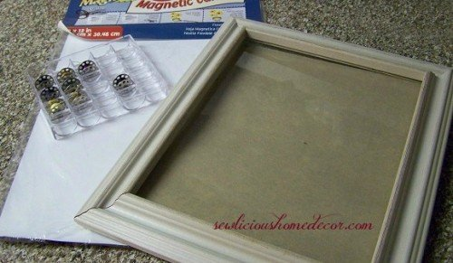 Magnetic Sewing Bobin picture frame supplies