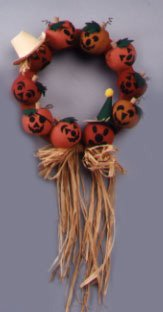 halloween jack o lanter wreath