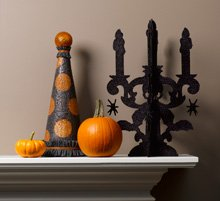 halloween polka dot topiary