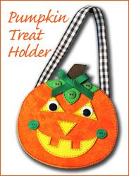 halloween pumpkin treat holder