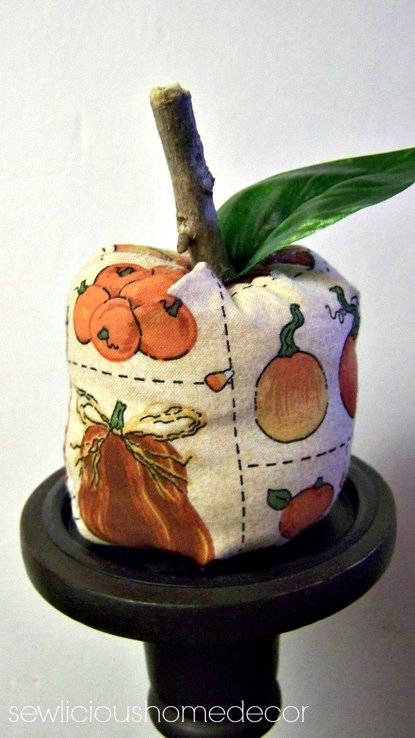 how to make a fabric pumpkin tutorial