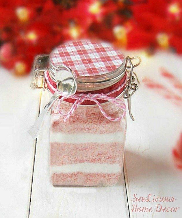 Peppermint Candy Cane Sugar Coconut Oil Scrub