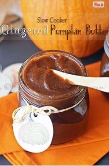 gingereded pumpkin butter