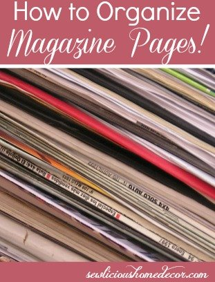 how to organize magazine pages
