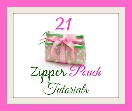 zipper pouch tutorials
