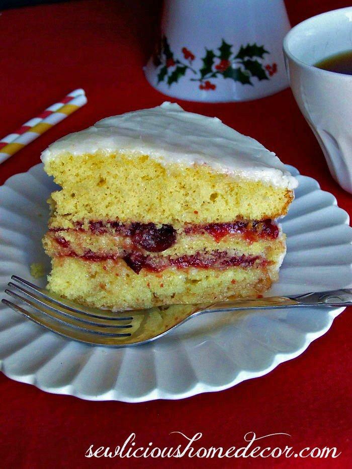 Lemon Cranberry Cake with a Lemon Glaze