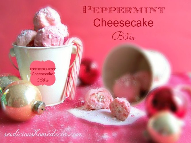 Peppermint Candy Cane Cheesecake Balls