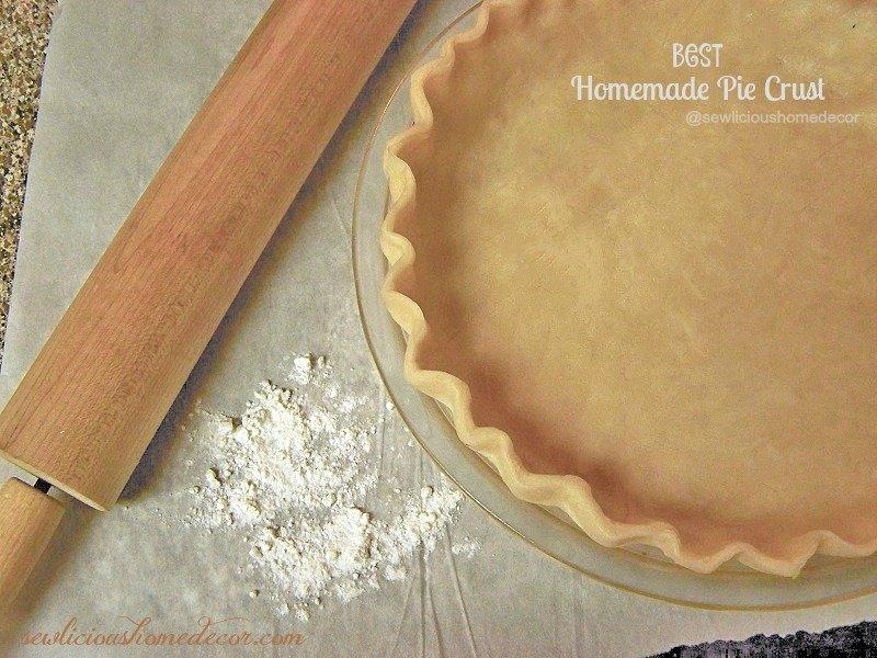 Best Homemade Pie Crust at sewlicioushomedecor.com