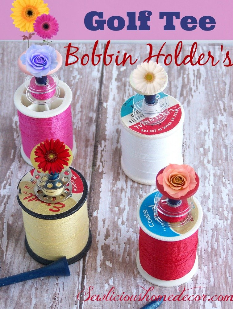 Golf Tee Bobbin Holders
