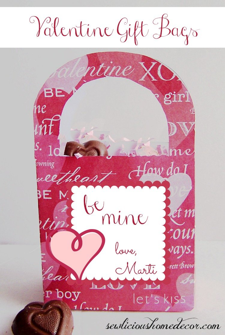 Valentine Gift Bag printable at sewlicioushomedecor.com