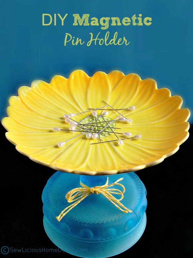 DIY Magnetic Pin Holder | DIY Sewing Room Organization Ideas From Sewing Mavens