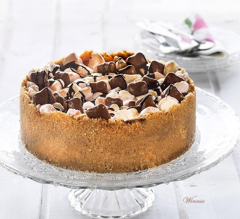 עוגת-גבינה-עם-מרשמלו-ושוקולד-ציפס-ב