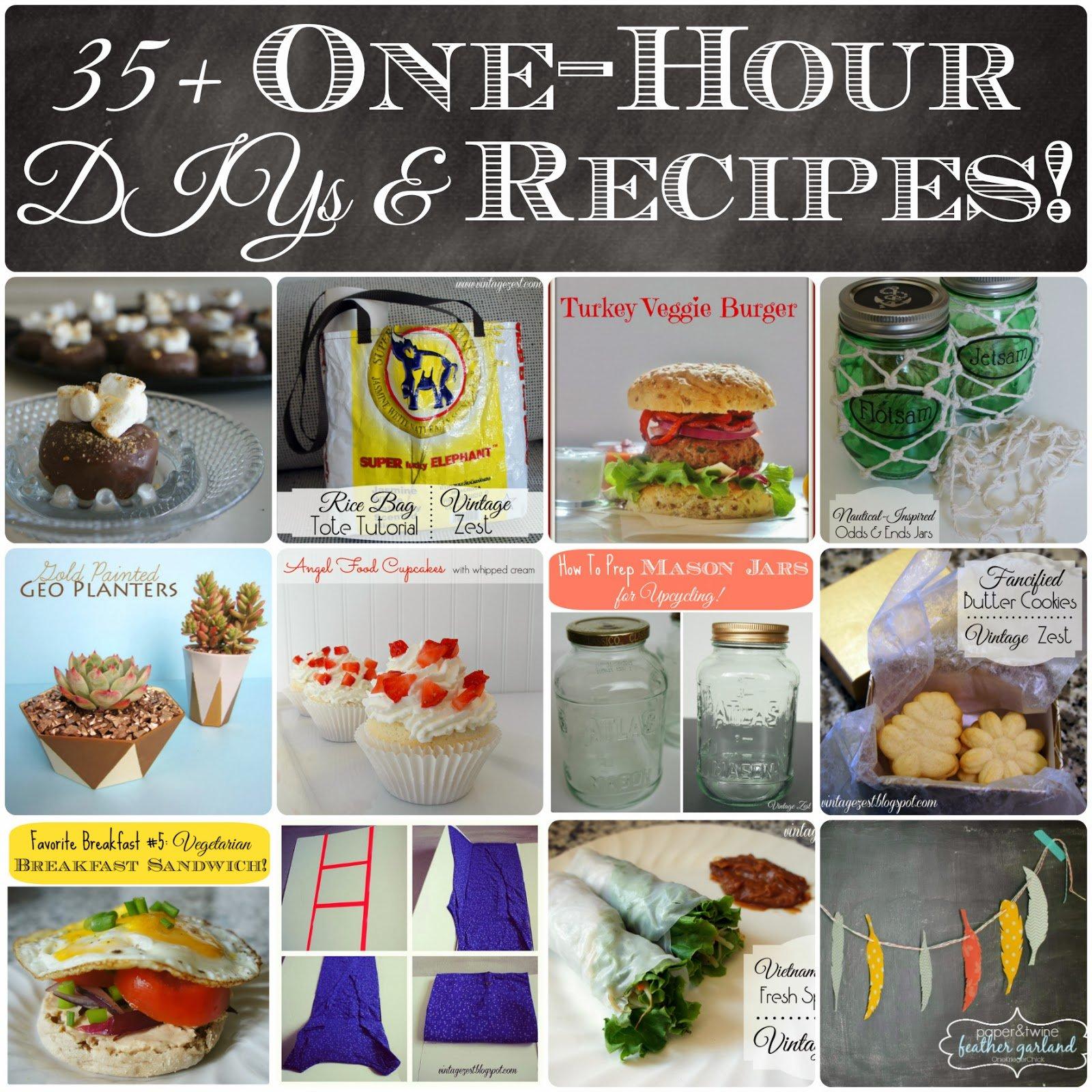 35 One-Hour DIYs & Recipes!