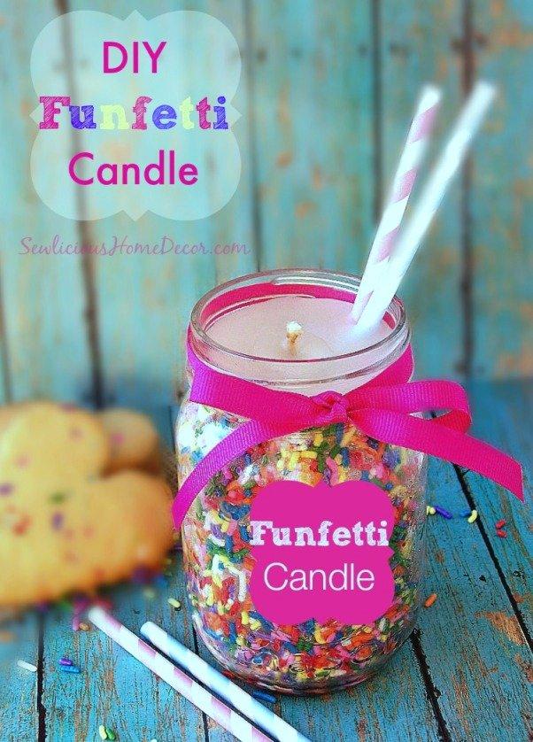DIY Funfetti Candle Tutorial