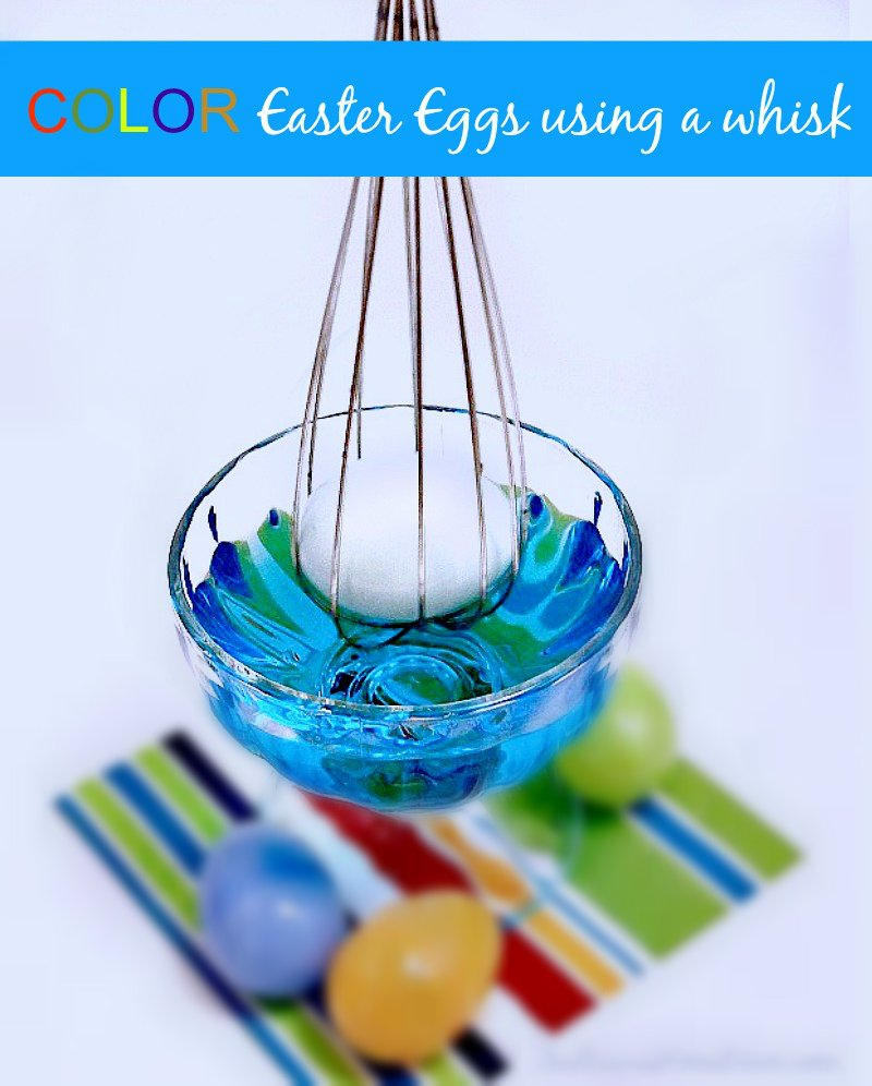 Color #Easter Eggs using a whisk at sewlicioushomedecor.com