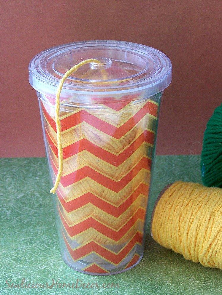 DIY Cup Yarn Container