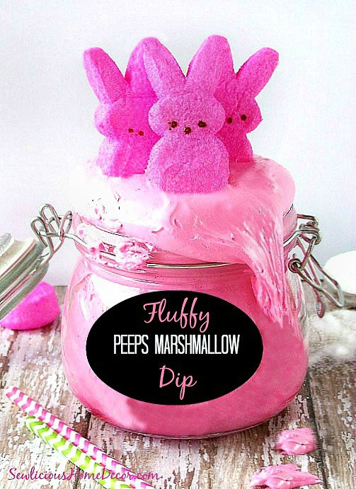 Pink and Fluffy #Peeps Marshmallow Cream Dip