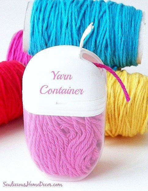 Tic Tac Yarn Holders