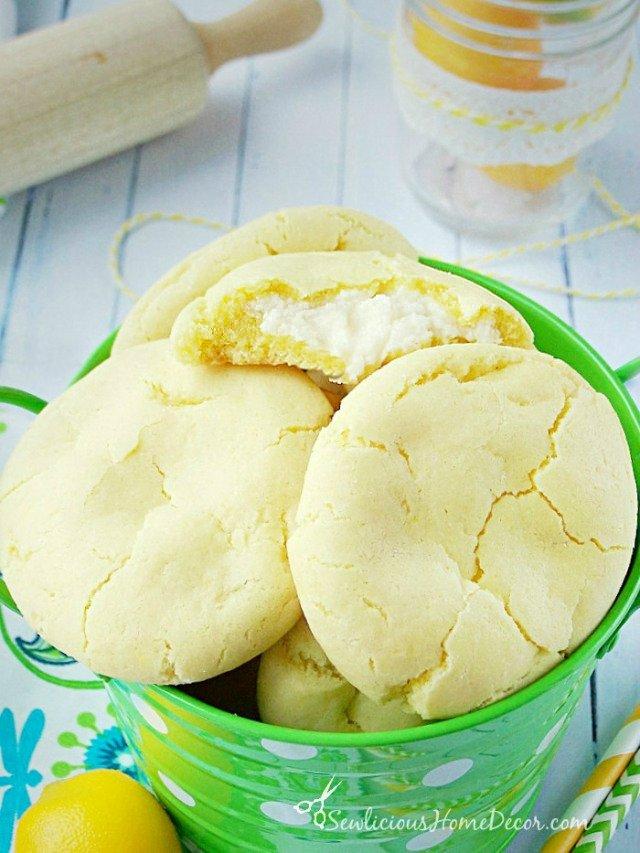 Citrusy #Lemon Pudding Cheesecake Cookies at sewlicioushomedecor.com