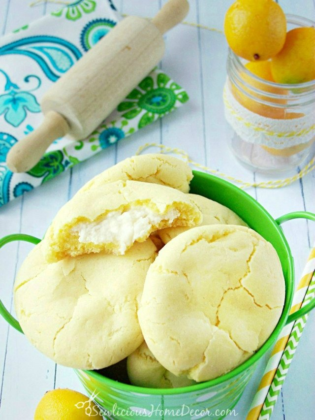 A-bucket of #Lemon-Pudding-Cheesecake-Cookies-created-by-sewlicioushomedecor