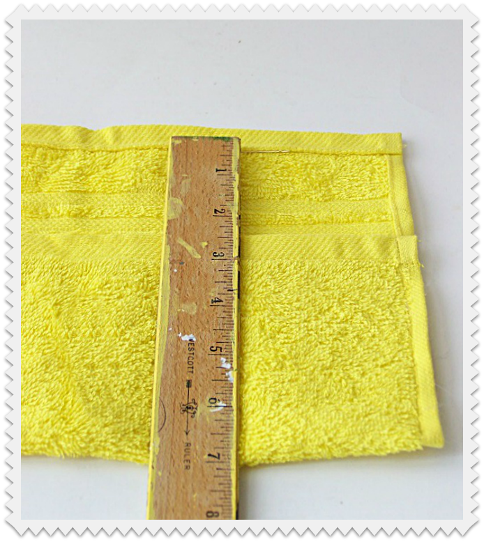 Measure where to sew pockets