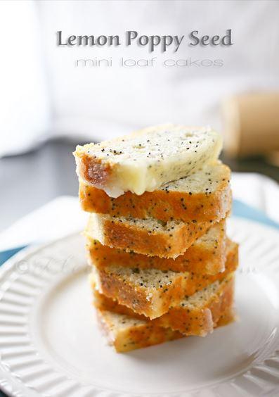 Lemon Poppy seed loaf cakes