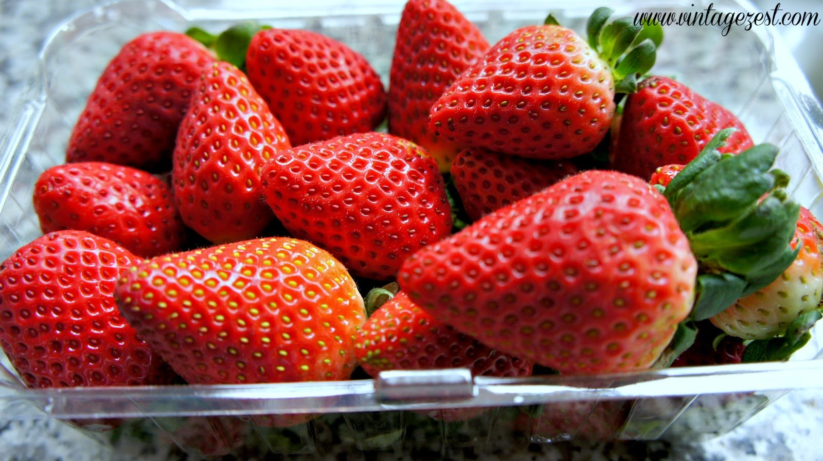Kitchen Tip- How to Hull Strawberries without a Fancy Gadget on Diane's Vintage Zest 1