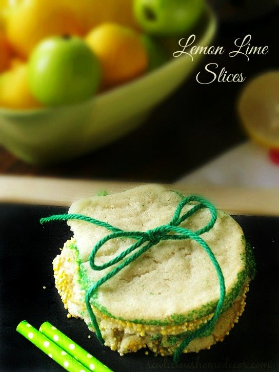Lemon and Lime Slices Cookies