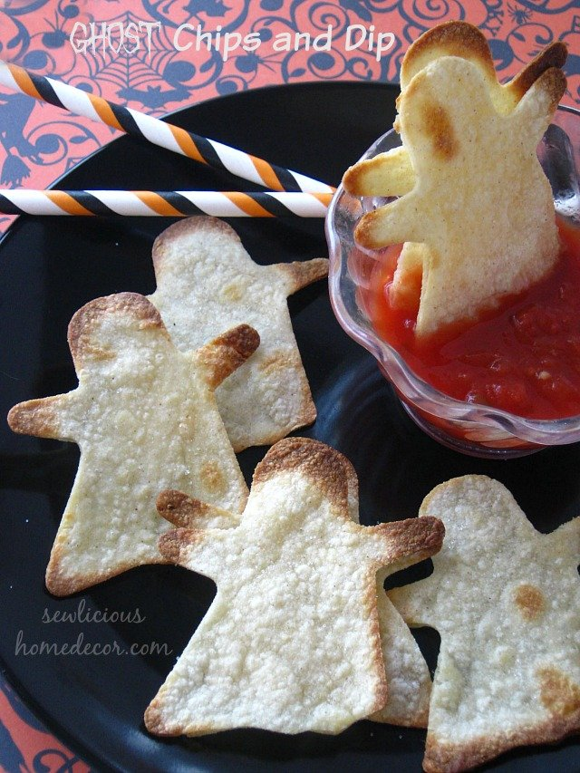 Ghost Chips and Dip Appetizers by sewlicioushomedecor.com