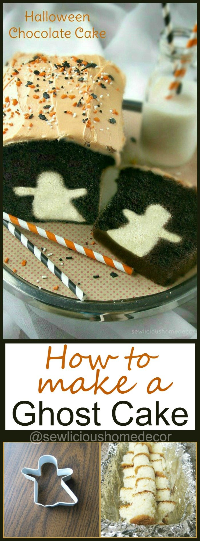 How To Make A Halloween Ghost Cake