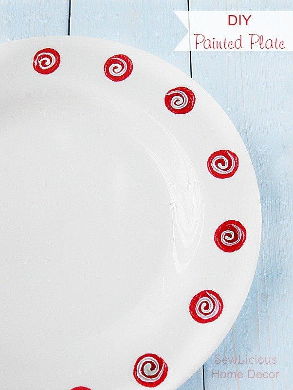 DIY Painted Plate at sewlicioushomedecor.com