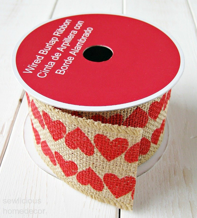 Heart burlap ribbon Walmart