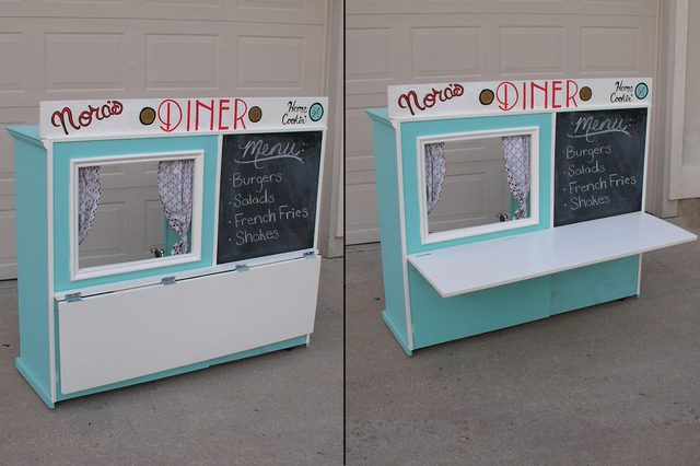 Recycled entertainment center diner