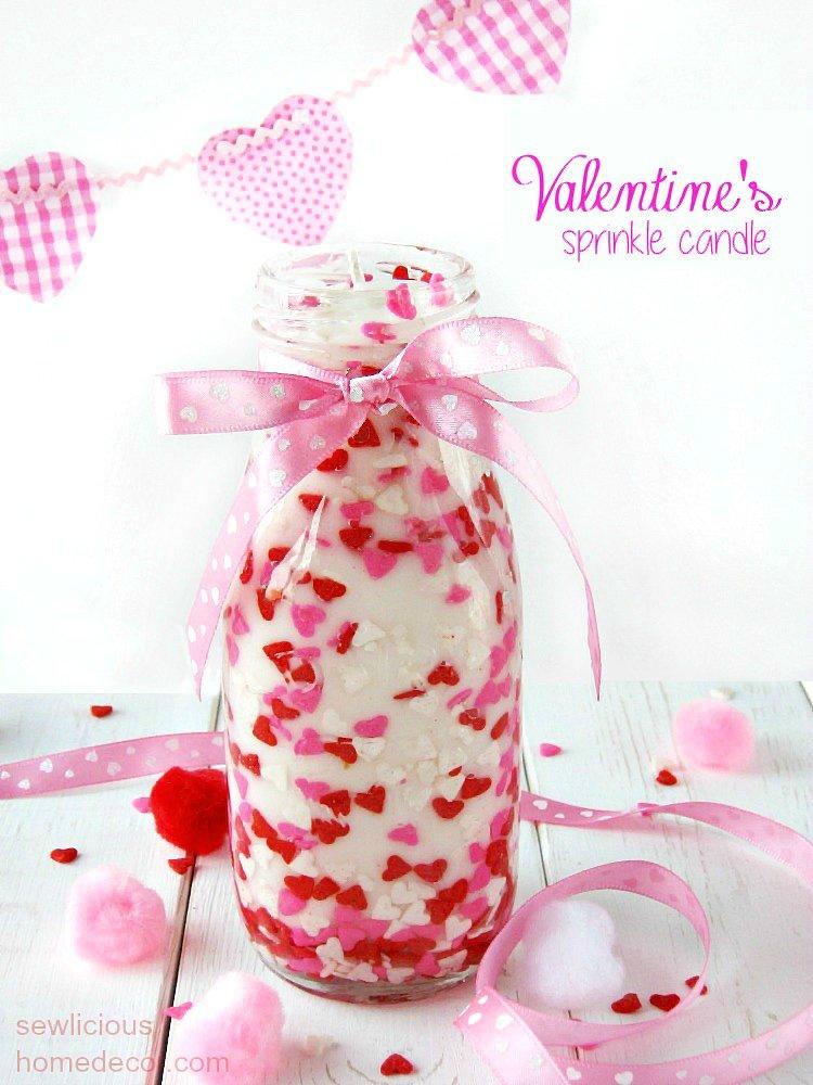 Diy Valentine Sprinkles Candle Gift Idea Sewlicioushomedecor