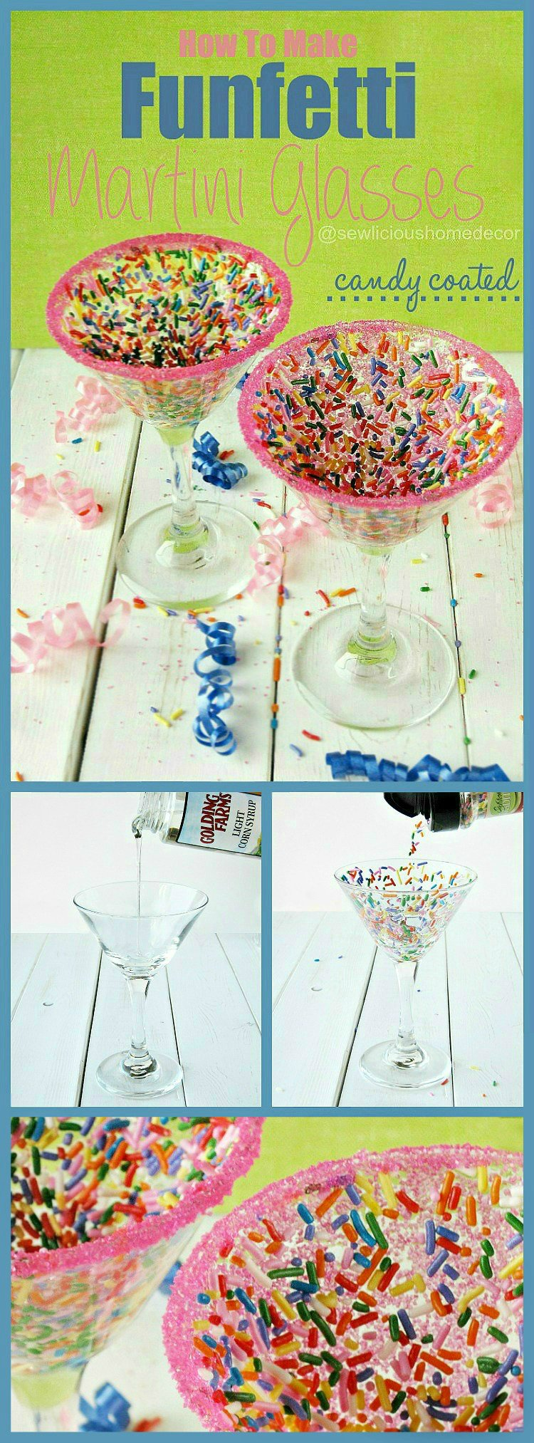 How To Make Funfetti Martini Glasses Candy Coated sewlicioushomedecor.com