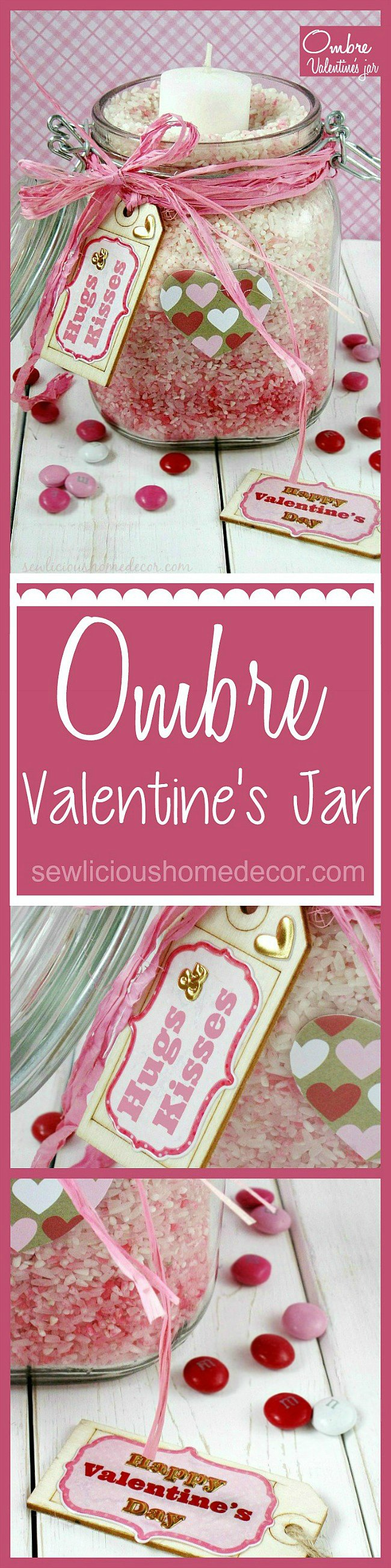 Ombre Valentines Day Jars sewlicioushomedecor