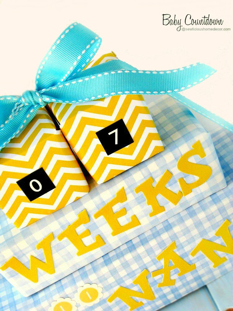 A-New-Grandbaby-Arrival-Countdown-made from-recycled-milk-cartons-sewlicioushomedecor